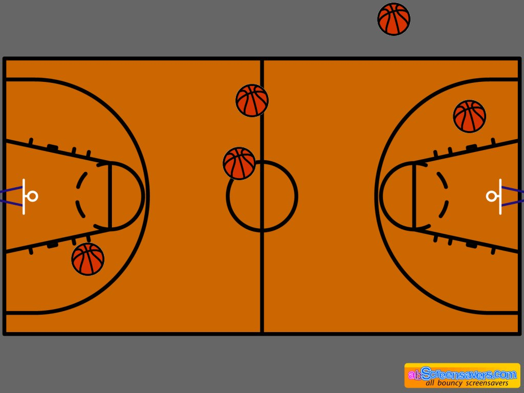 Download freeware Basketball screen saver by abScreensavers.com