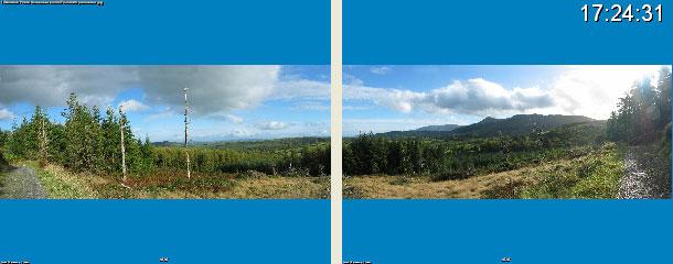 Dual screen spanned panorama Random Photo Screensaver Screenshot